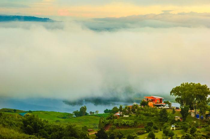 Khaokho city, Thailand Landscape KhaoKho,Thailand Mist Misty Mountain