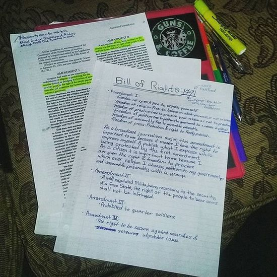 Simplybeingalice Billofrights Studying Best  way to honor fourthofjuly guns and coffee
