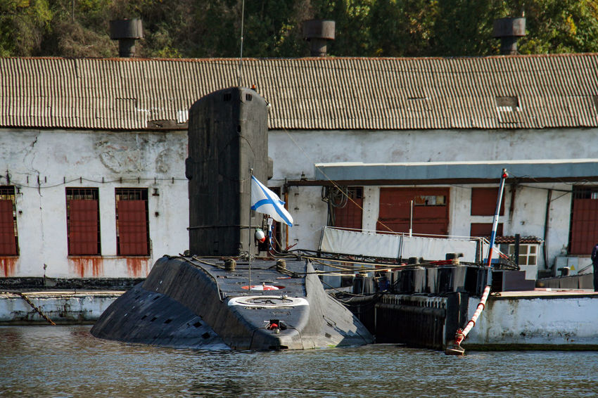 Harbour Sevastopol  Architecture Building Exterior Built Structure Day House Military Ship Nature Nautical Vessel No People Outdoors Residential Building Submarine Water