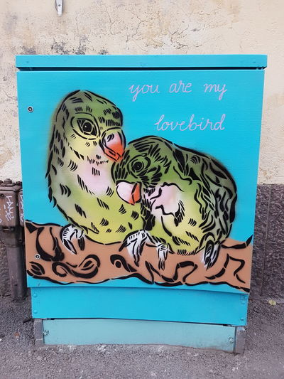 Street Art No People Street Art/Graffiti Graffiti Art Utility Boxes Utility Box Birds Love Poem Poetry