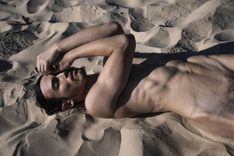 Yu-Liang in Berlin Asian  Berlin Body & Fitness Nude-Art Relaxing Taiwanese This Is Masculinity Boy Fitness Gay Guy Leasure Activity Lying Down Lying On Back Male Nudeartphotography Sand Sand Dune Style Sun Urban