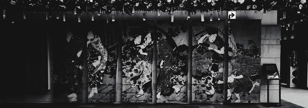 Blackandwhite Japan Fujifilm XF16mmF1.4 Xpro1 Picture Text Architecture Built Structure Western Script Communication Wall Art And Craft