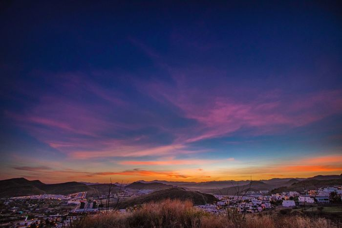 Twilight City Sky Beauty In Nature Nature Mountain Scenics No People Outdoors Tranquility Tranquil Scene Landscape Cloud - Sky Sunset Day