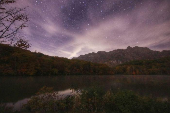 日が暮れた鏡池(2016.10.21)連日かい! Tree Lake Nature Reflection Landscape Space Astronomy Star - Space Beauty In Nature Sky Mountain Water Reflection Lake Scenics Milky Way Night Arts Culture And Entertainment People Galaxy Tranquility 銀河鉄道の夜♪今年はおしまいかな(笑)