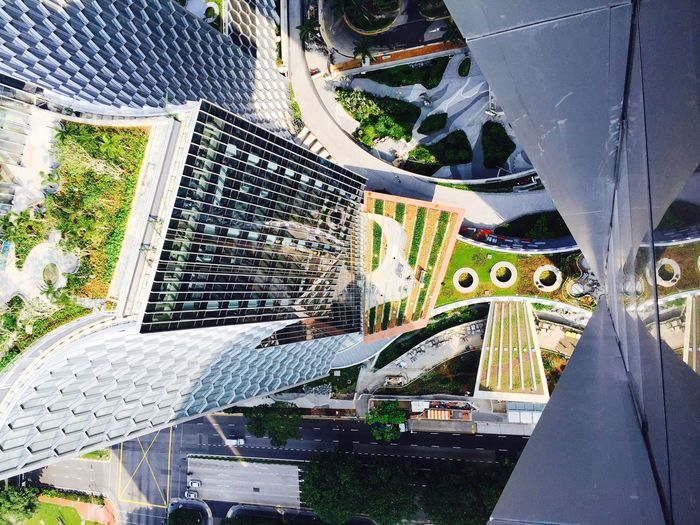 Architecture Outdoors Building Exterior Rooftop Built Structure Tower IPhoneography From Top To Bottom 50 Storey Sitevisit Architectural Detail Modern Architecture Roof Gardens Mixed Development Rooftop View  Construction Site The Architect - 2017 EyeEm Awards