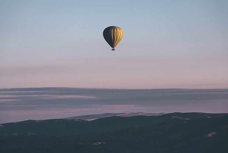 Above the cappadocia Cappadocia EyeEm Best Shots Art Is Everywhere EyeEmNewHere Turkey Balloons Anatolia Landscape_Collection Hot Air Balloon Nature Sunrise Flying Sky Beauty In Nature Adventure Tranquility Outdoors Canon Capture Tomorrow 2018 In One Photograph