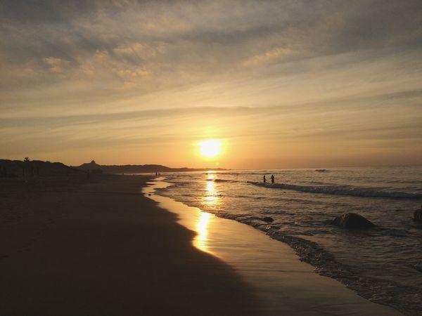 戲 Sunset Sea Water Sky Beach Scenics - Nature Land Beauty In Nature Nature