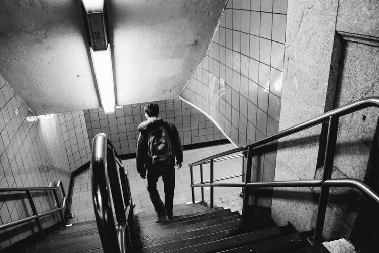 Black & White Little Italy / NY Manhattan Manhattan Skyline Metro New York New York City People Of EyeEm USAtrip Architecture Biancoenero Blackandwhite Blackandwhite Photography Hand Rail Illuminated Little Italy Metro Station Metropolis Metropolitan Metrostation Nightlife One Person People And Places Staircase Steps And Staircases