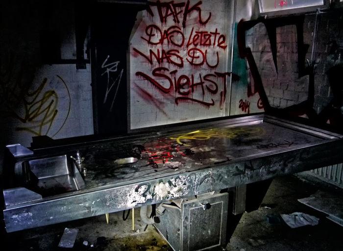 Abandoned Berlin Fu Berlin Graffiti Art Indoors  Institute Of Anatomy No People Post-mortem Examination Urbanex