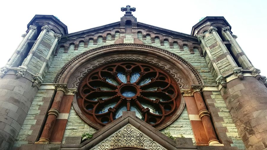 Historic Building Architecture_collection Wall - Building Feature No People Building Exterior Stained Glass Window Stone Structure New York City Church