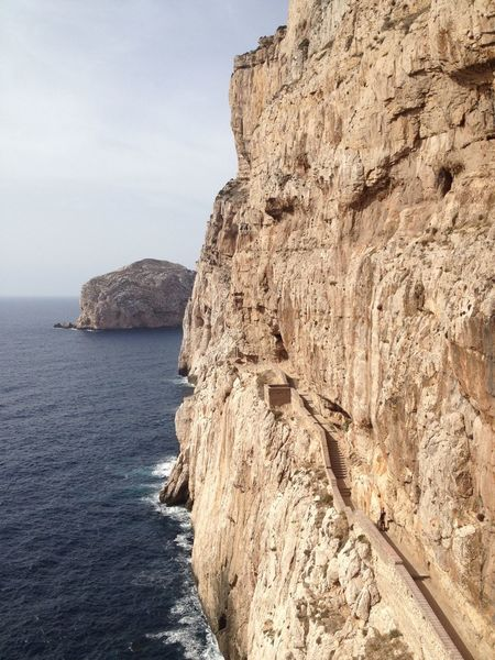 Stairs Beauty In Nature Cave Cliff Grotta Di Nettuno Holyday Nature Rock Formation Sardegna Suggestive Place