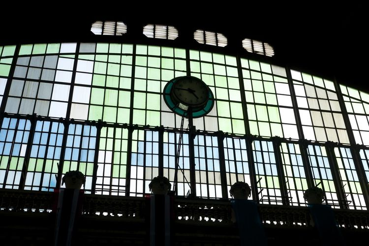 The evening sun creates wonderful pastel colours through the stained glass window at Bangkok railway station. Bangkok Railway Stained Glass Station Sunlight Window Backlight Late Afternoon Thailand Architecture Pastel Spotted In Thailand Welcome To Black