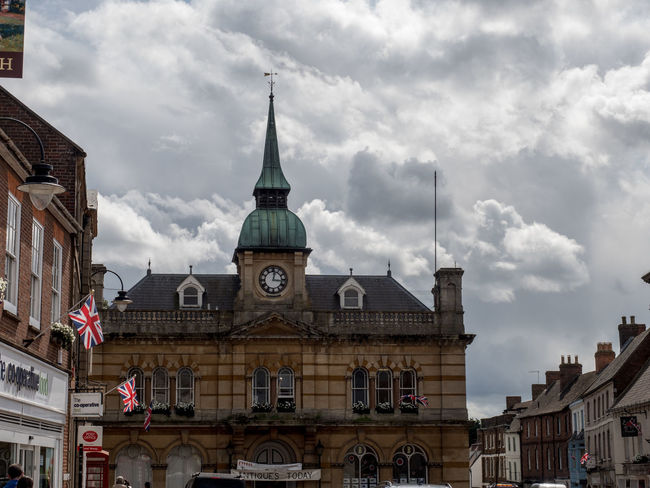 Political Cloud Towcester Town Hall Square Architecture Building Exterior Built Structure City Cloud - Sky Day Dome Low Angle View No People Outdoors Sky Travel Destinations