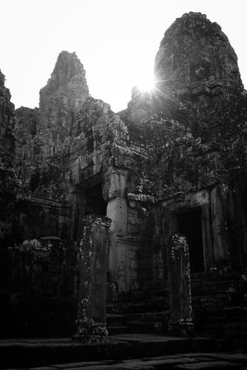 Ancient Civilization Angkor Ankor Thom Architecture ASIA Built Structure Cambodia Fuji X100s History Monochrome Old Ruin Siem Reap Sunset Temple