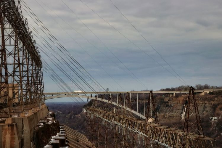 Welland Canal, Niagara Falls, Canada Bridge - Man Made Structure Ontario, Canada Manmadestructures Canals And Waterways Landscape Sky Vehicle Water Sky Humanity Meets Technology 17.62°