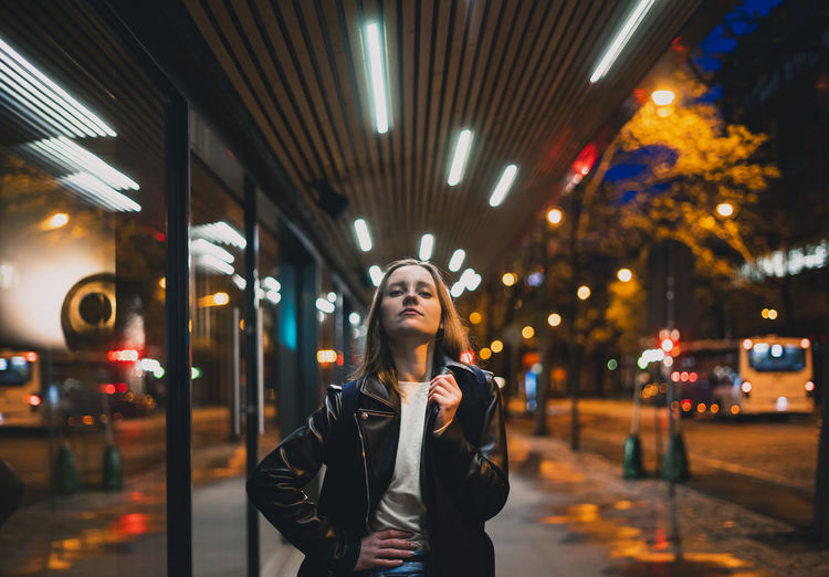 Night street portrait