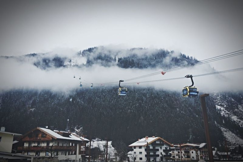 Mayrhofen Austria Winter Snow Cold Temperature Day Weather Outdoors Mountain Ski Lift Ski Holiday