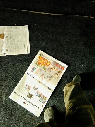 I am finished reading it Typical Sunday Newspaper Walking Around Time And Tide Casual