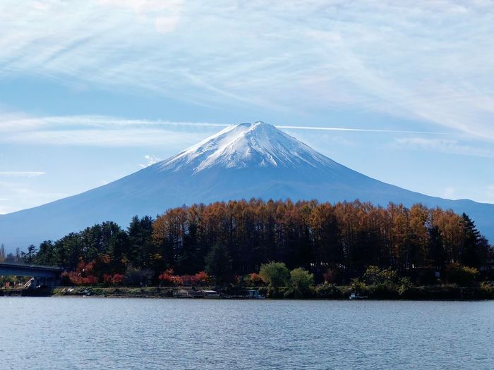 Mount Fuji Nature Lake Japan Mountain Fuji Sky Tree First Eyeem Photo