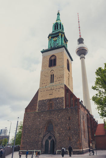 Marienkirche Berlin Architecture Berlin Berlin Photography Building Exterior Built Structure Church City Clock Tower Day DDR Time Deutschland Fernsehturm Fernsehturm / Tv Tower Germany History Kirche Marienkirche Marienkirche And The TV-tower In East Berlin Marienkirche Berlin-mitte Outdoors Religion Sky Tower Travel Photography TV Tower
