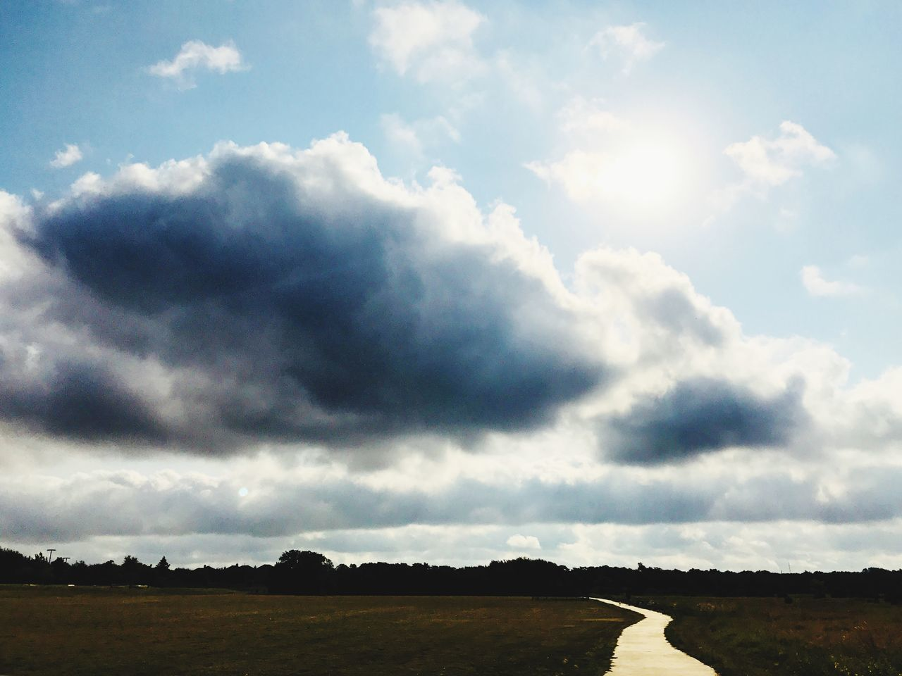 cloud - sky, sky, tranquility, nature, beauty in nature, day, scenics, outdoors, no people, landscape, tree