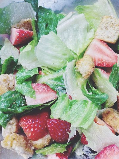 Lunchtime is here!!! ??? Yummy Strawberry Salad In My Mouf Lunch Delicious Food