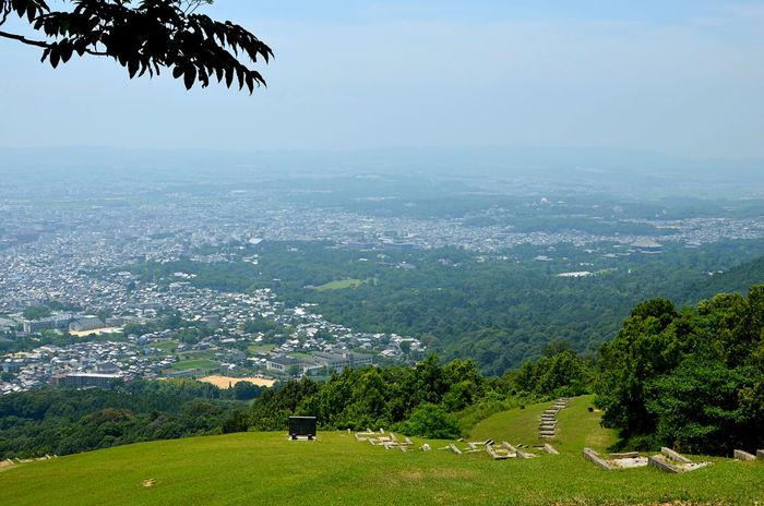 Cityscape Hill Japan Landscape Landscape_photography Nara Nara,Japan 奈良 Scenics 奈良盆地 遠望 眺め 高円山 盆地 火床 東大寺 風景 山頂 大文字送り火 大文字焼き