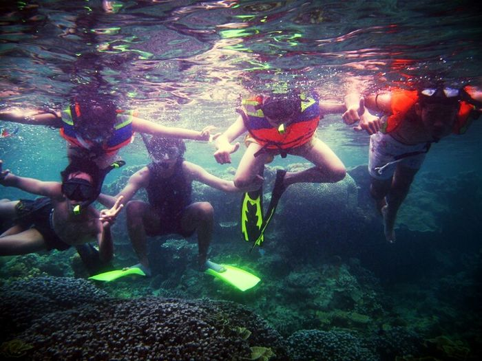 Underwater Park Traveling Me Friends