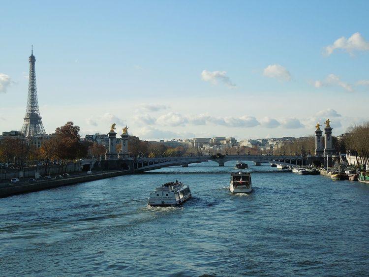 Paris River Seine Eiffel Tower France Europe Eurotrip Beautiful View Holiday Enjoying Life