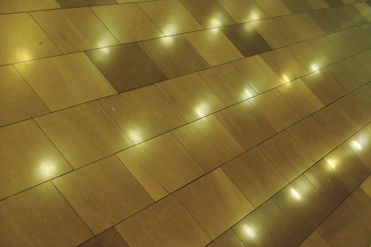 Full Frame Backgrounds Flooring Pattern Tile No People Illuminated Textured  Close-up Architecture Gold Colored Low Angle View Design Shape