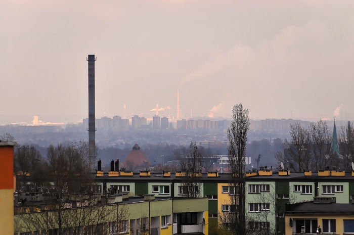 Architecture Będzin City Day Factory Industry No People Siemianowice Sky Smoke - Physical Structure