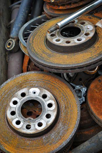 Brake Rotor Close-up Day Land Vehicle Metal No People Outdoors Technology Tire Transportation Vehicle Part Wheel