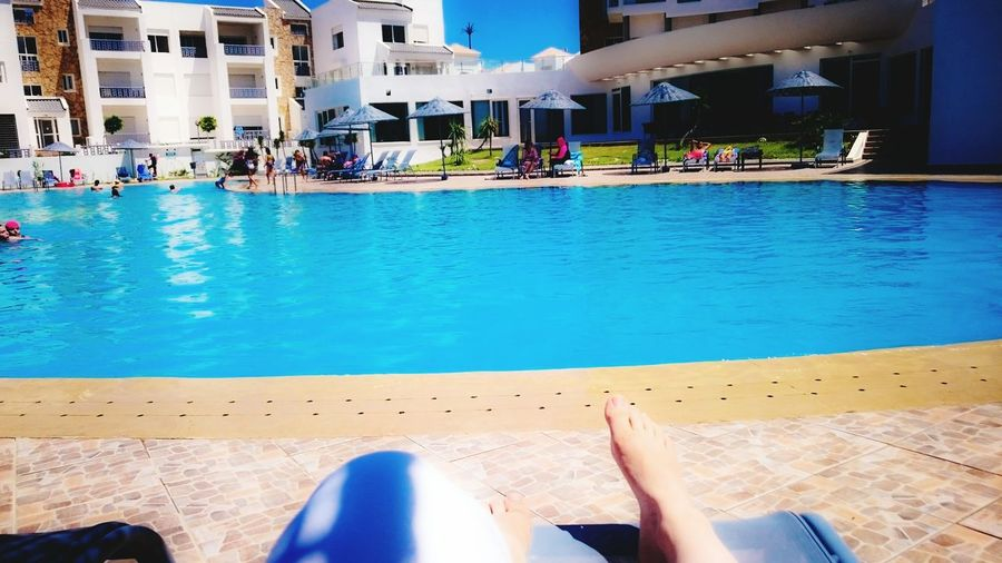 Chillings Hanging Out Check This Out Hello World Relaxing Enjoying Life Hi! That's Me Morocco MoroccoTrip Nourscreations Blue Vacation Time Pool Poolside Hotelmogador