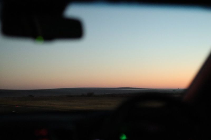 why am i awake? Car Window 4am Photos Outdoors Orange Color Land Clear Sky Tranquil Scene No People