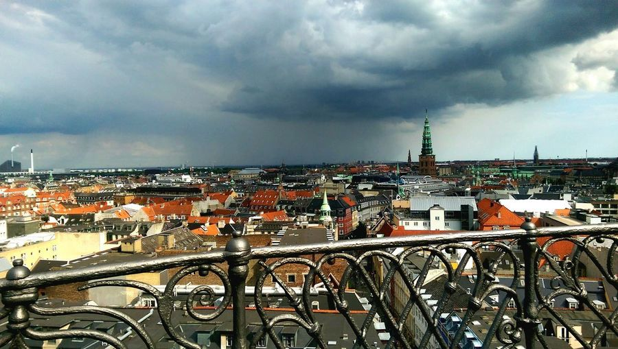 drama Rooftops Copenhagen Copenhagen Skyline Round Tower View View From Above Above The City City Cityscape Urban Skyline Storm Cloud Sky Architecture Building Exterior Built Structure Cloud - Sky Dramatic Sky Tower