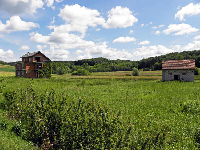 Country,Zagreb's surrounding,abandoned houses,changing weather,1 Abandoned Houses Beauty In Nature Changing Weather Cloud Cloud - Sky Field Grass Green Color Growth Landscape My Way Home Nature Rural Scene Scenics Sky Summer Surroundings Tranquil Scene Tranquility Zagreb, Croatia