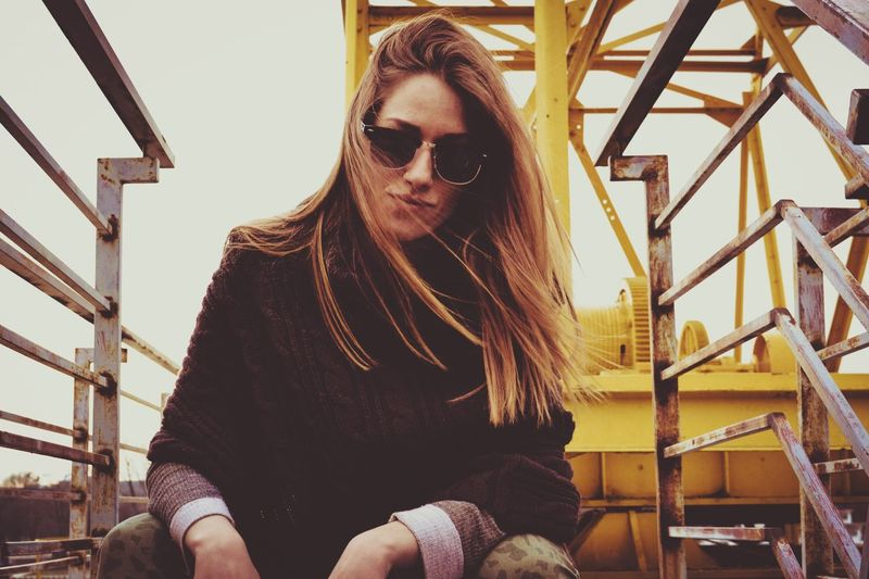 Girl Sunglasses Sitting Steps One Person Real People Steps And Staircases Young Adult Long Hair Nikonphotography Nikon_photography NikonD3100 Detailphotography Cameralover Beauty Cameraneverstops Detailed