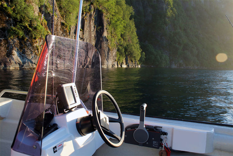 Boat Coast Maritime Marítim Motoboat Motor-boat Nature Nautical Vessel No People Norway Outdoors Sea Sky Steering Wheel Transportation Water