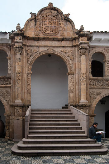 Low angle view of historical building