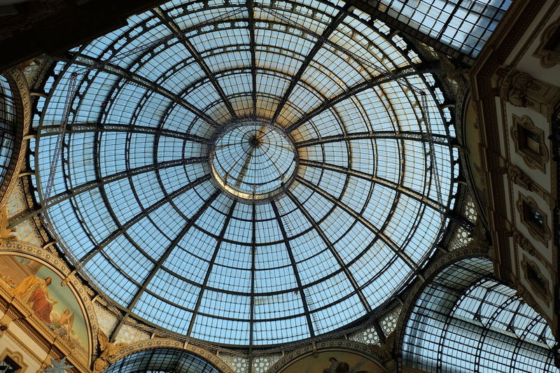 Piazza Duomo Milan Architecture Arts Culture And Entertainment Built Structure Ceiling Classic Classic Architecture Classic Art Culture Day Dome Dome Ceiling Dome Shape Heritage Heritage Building Heritagebuilding Indoors  Italia Italy Low Angle View Milan Milano No People Pattern Sky