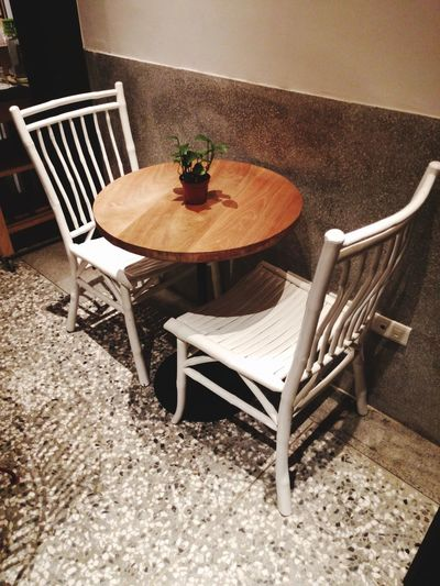 Better Together Coffee Shop Chairs Empty Chair Table