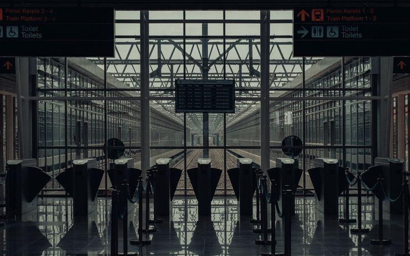 Digital composite image of people walking in airport