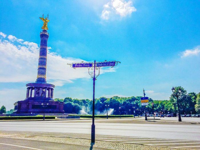 Berliner Ansichten Berlin Blue Sky Street Photography Siegessäule  Streetphotography No People