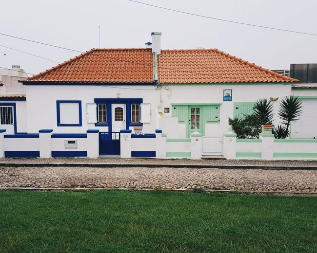 Peniche, Portugal Travel Travel Photography Travelling Peniche Peniche Portugal House Building Exterior Sky Architecture Built Structure Roof Roof Tile TOWNSCAPE Country House Tiled Roof