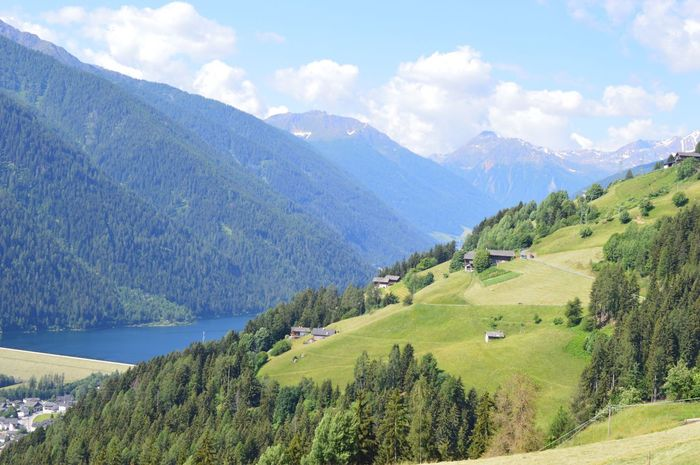 Happy evening, dear friends 💐🙋🏻♀️☀️ Italien Italia Italy Alto Adige South Tyrol Südtirol Ultental Beauty In Nature Mountain Scenics - Nature Tranquil Scene Tranquility Cloud - Sky Plant Sky Environment Landscape Tree Mountain Range Green Color Non-urban Scene Idyllic Nature Land Day Growth No People