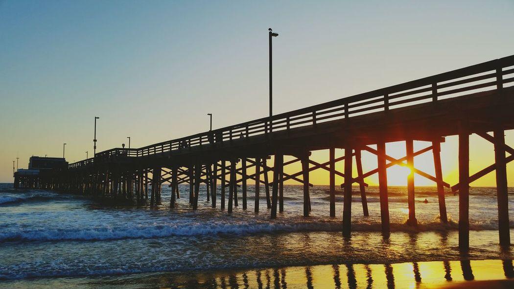 Sunset at Newport Beach Pier Newport Beach Sunset Newportbeach Newport Beach Pier SSP