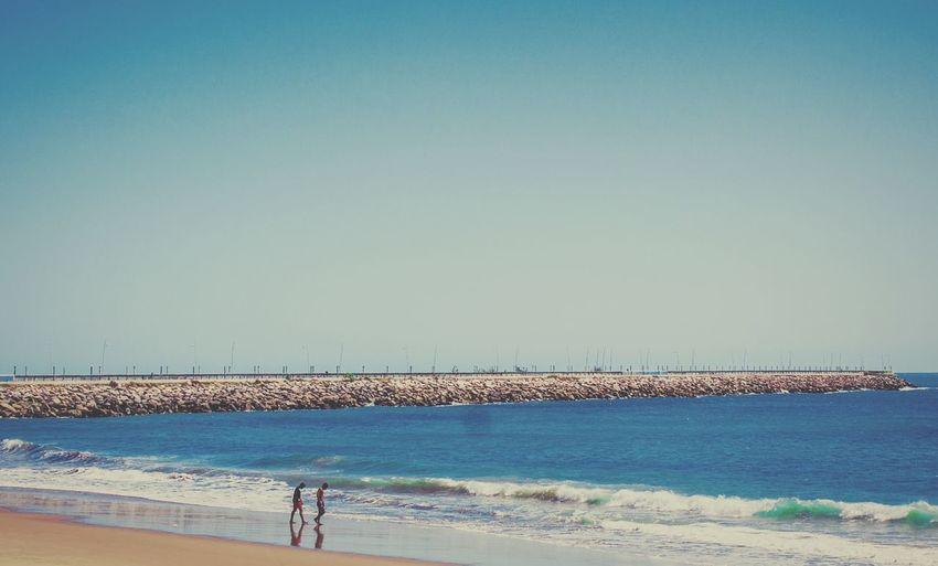 Beira-mar de Fortaleza Beach Sea Ocean Water Blue Blue Sky Sky People Summer Sun Hot Brazil Pier Wave Waves Wind Windy