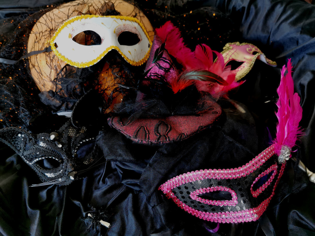 mask - disguise, mask, disguise, costume, celebration, close-up, creativity, venetian mask, no people, carnival, carnival - celebration event, day, representation, art and craft, focus on foreground, festival, outdoors, obscured face