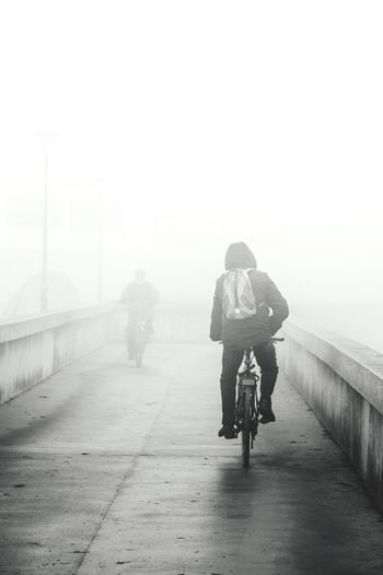 Bycicle Fog Monochrome Blackandwhite Black & White Black And White Black&white Blackandwhite Photography Blackandwhitephotography Black And White Photography Foggy Morning EyeEm Best Shots The Week Of Eyeem EyeEm Best Edits Schwarzweiß People Photography From My Point Of View Black And White Collection  Photography Early Morning Nebel Great Atmosphere Water_collection Well Turned Out Followfriday