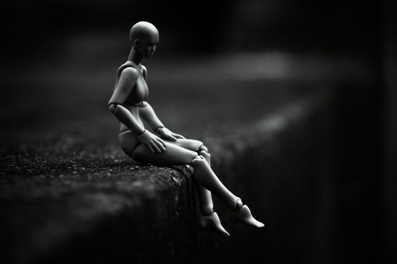 Black & White Doll Doll Photography Figure Grayscale Action Figure Black And White Day Deep Full Length Noir One Person Outdoors People Pose Pose Doll